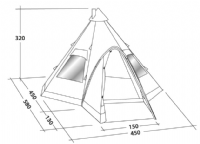 Robens Kiowa Tent -  A Stunning Quality Tipi Style Tent